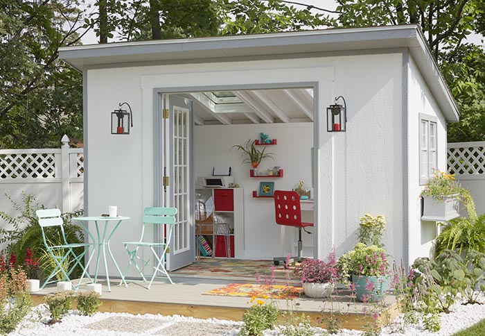 She sheds spread broad joy the broad life for Outside office shed